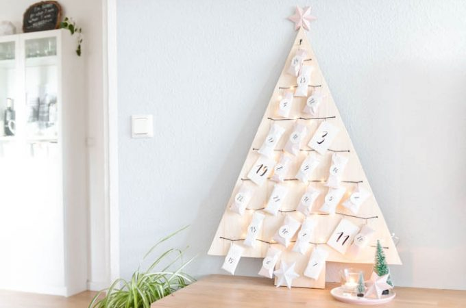 Weihnachtsbaum-Adventskalender basteln
