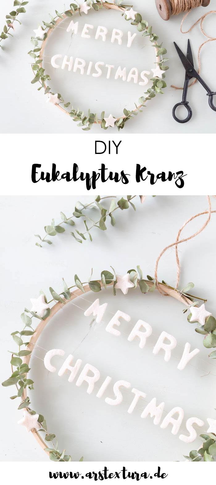 Eukalyptus Kranz mit Deko aus Salzteig basteln