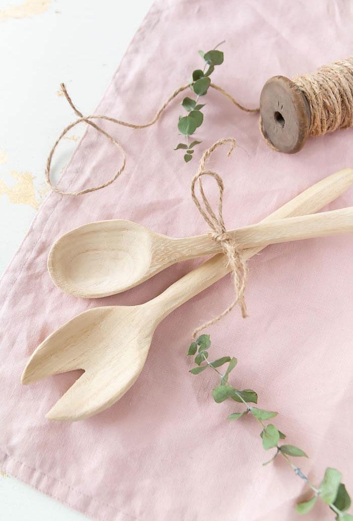 Salatbesteck aus Holz selber machen