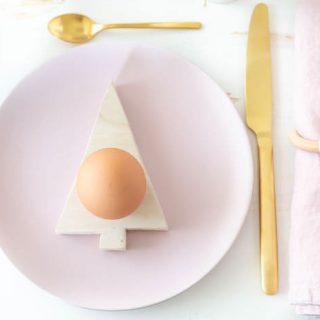 Tannenbaum Eierbecher selber machen