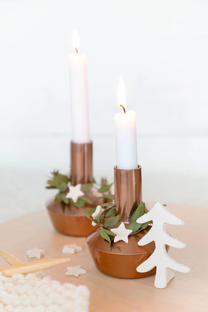 Eukalyptus Kranz für Kerzenständer basteln
