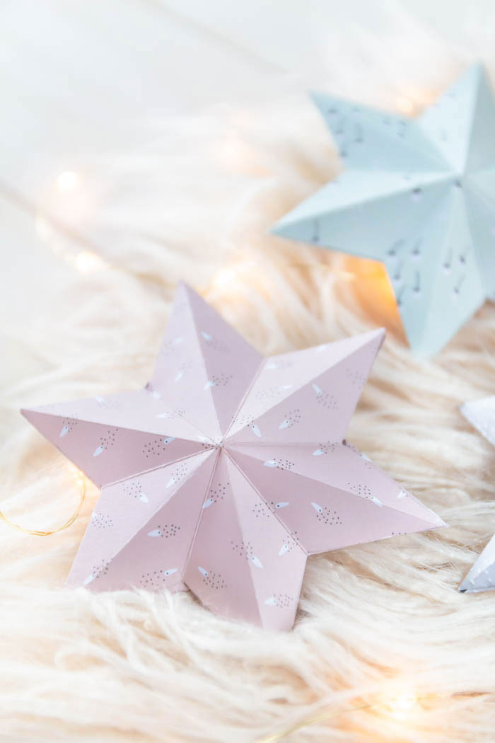 Sterne aus Papier basteln mit Anleitung und Vorlage