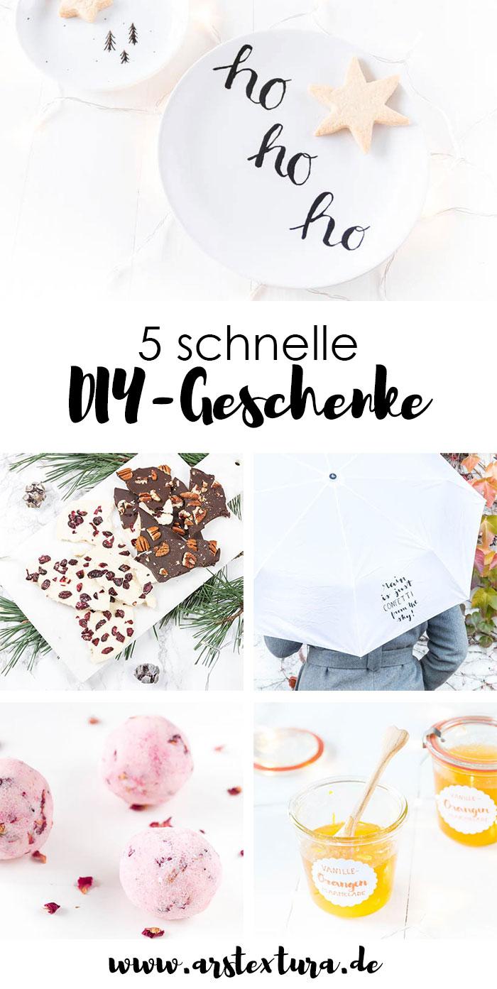 Schnelle DIY Geschenke für Weihnachten
