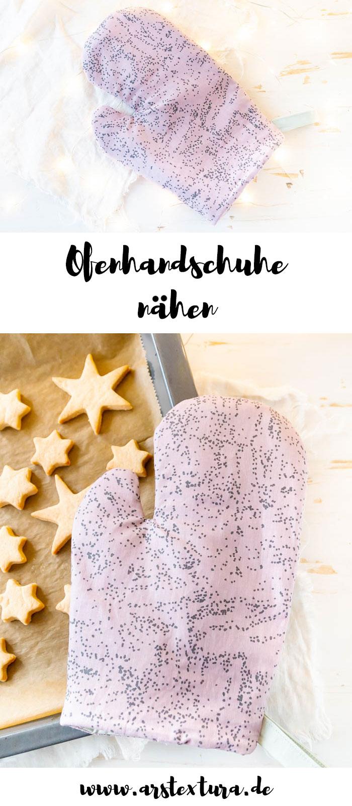 Ofenhandschuh nähen mit Anleitung