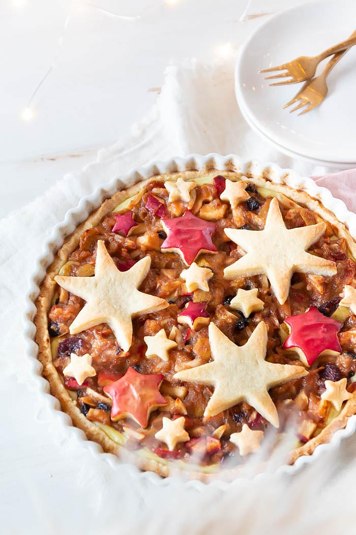 Weihnachtsrezept: Bratapfel Tarte mit Sternen