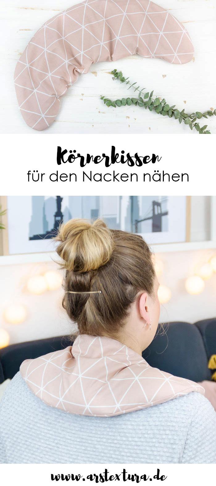 Anleitung Körnerkissen für den Nacken nähen