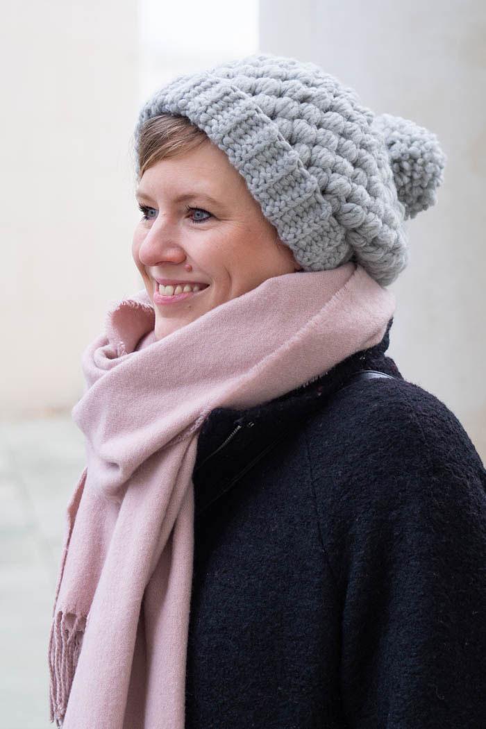 Mütze häkeln mit Büschelmaschen - Anleitung