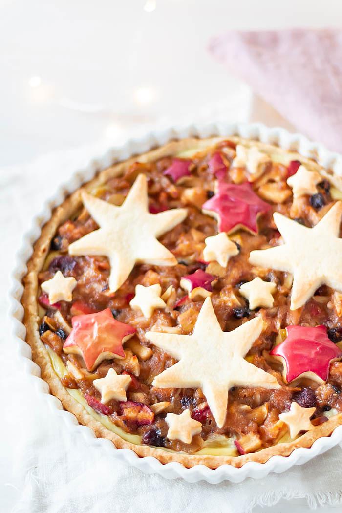 Rezept: Bratapfel Tarte mit Sternen