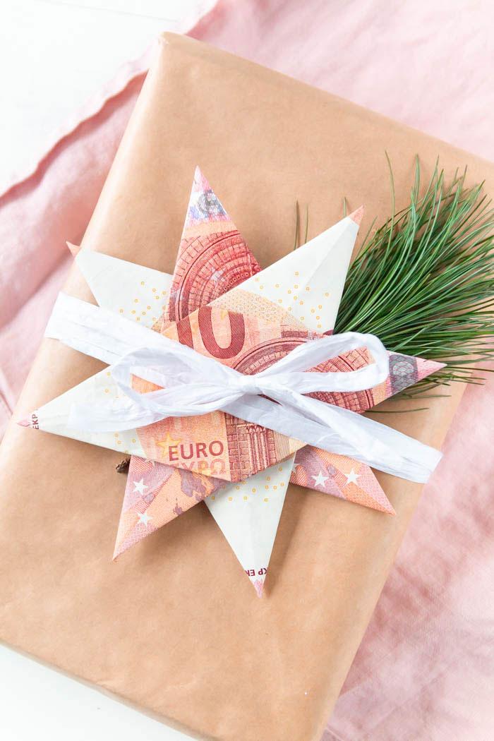 Geldscheine falten: Stern