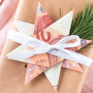 Geldgeschenk zu Weihnachten - Geldscheine falten