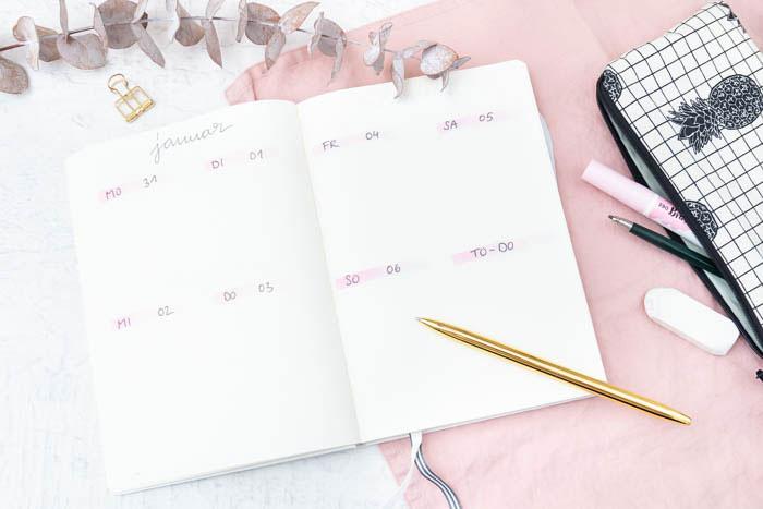 Bullet Journal Set-up 2019