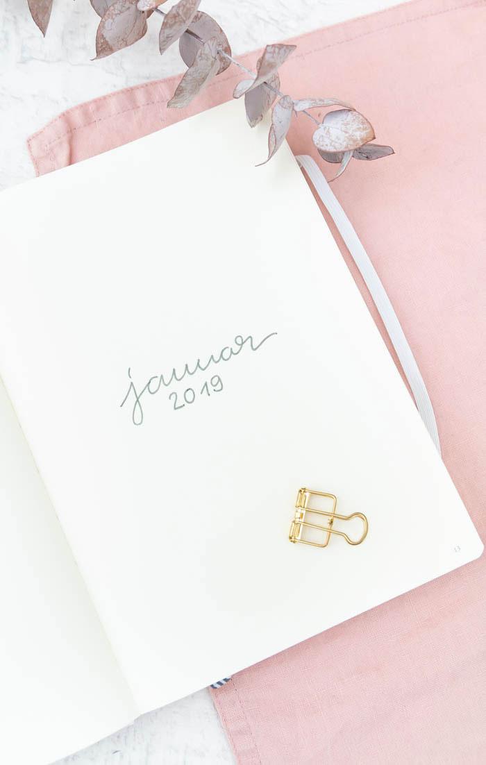 Januar Bullet Journal Set-up 2019