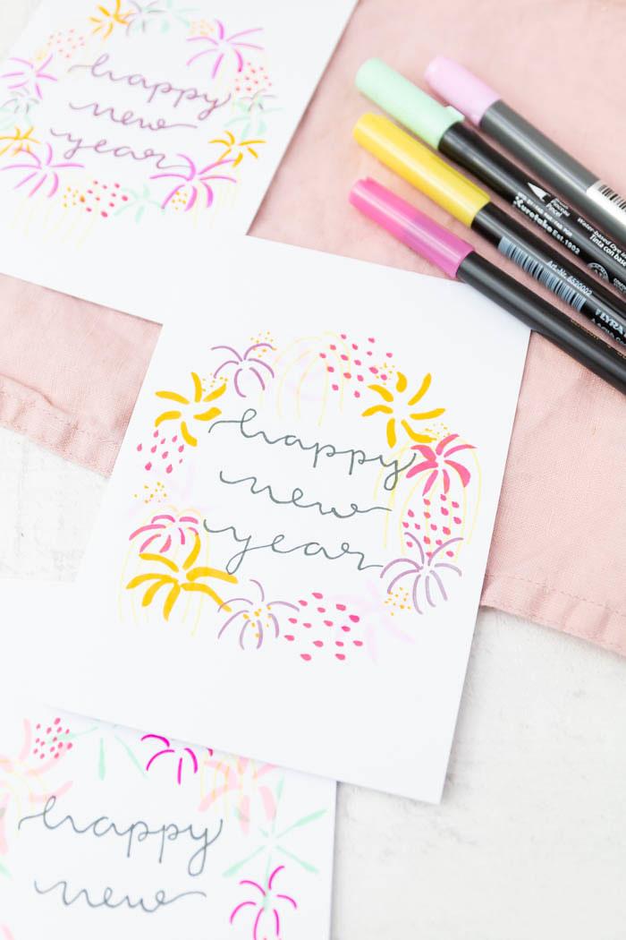 Karten zu Neujahr verschicken - Neujahrskarten gestalten