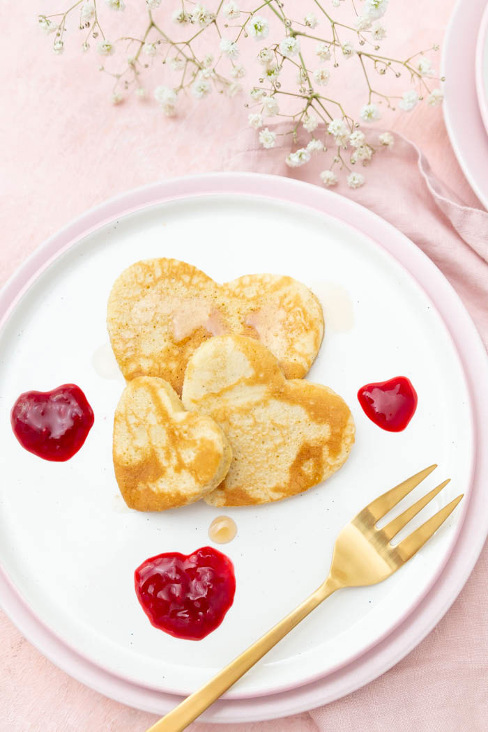Pfannkuchen Herzen zum Valentinstag