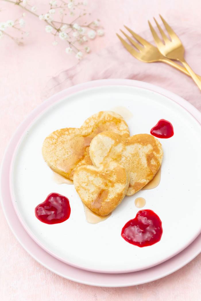 Rezept: Pfannkuchen Herzen zum Valentinstag