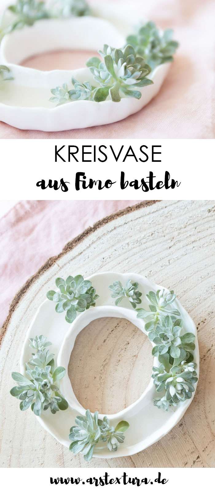 Anleitung: Kleine Vase aus Fimo basteln