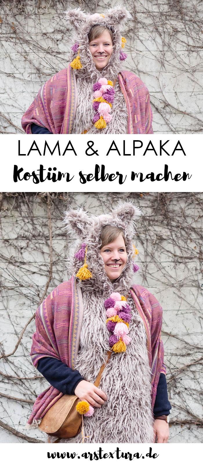Lama & Alpaka Kostüm zu Karneval - das perfekte warme Outdoor Kostüm #karneval #lama #alpaka