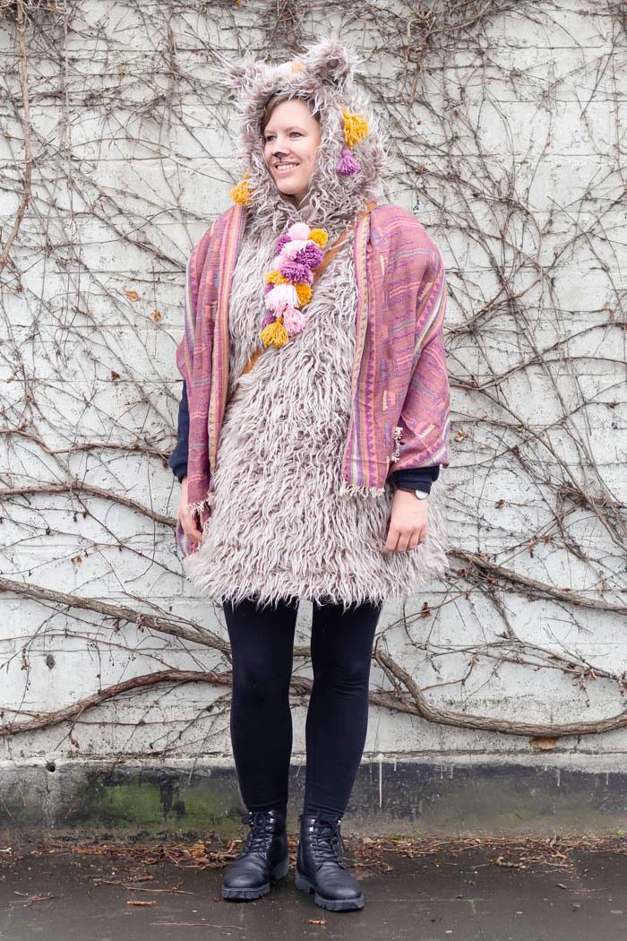 DIY Kostüm Lama Alpaka selber machen