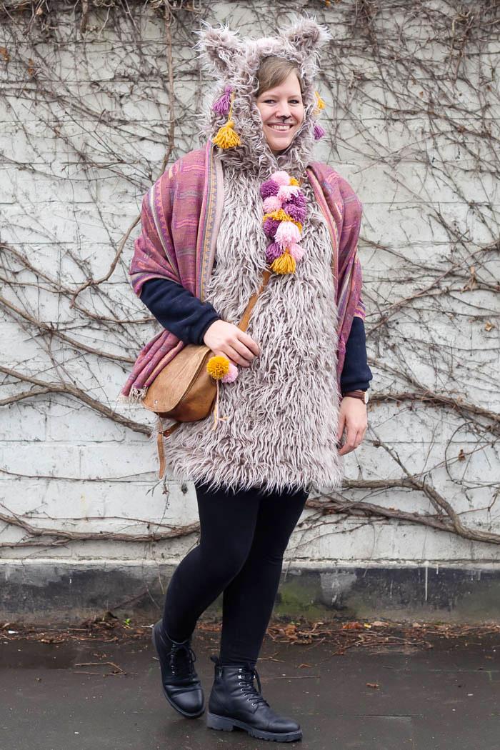 Lama & Alpaka Kostüm zu Karneval nähen