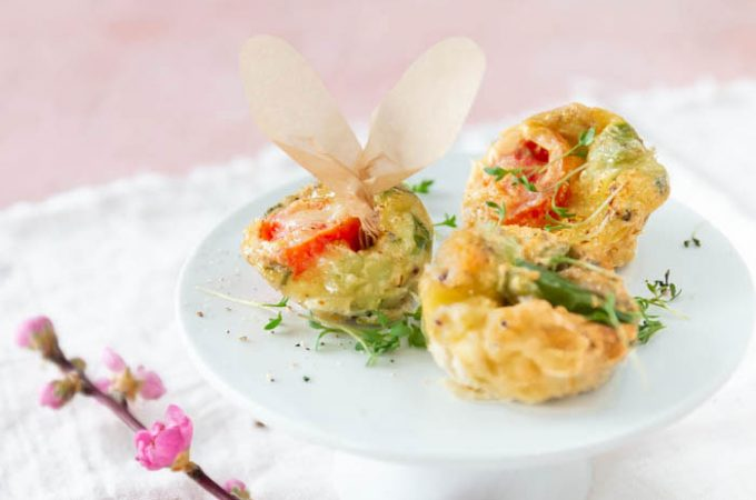 Mini-Omelette zum Osterbrunch