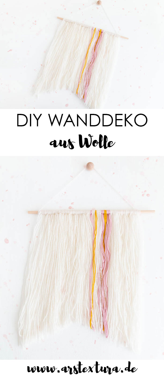 Wanddeko aus Wolle basteln - DIY Wallhanging