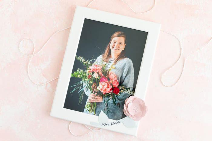 Bilderrahmen verzieren - DIY Geschenk zum Muttertag