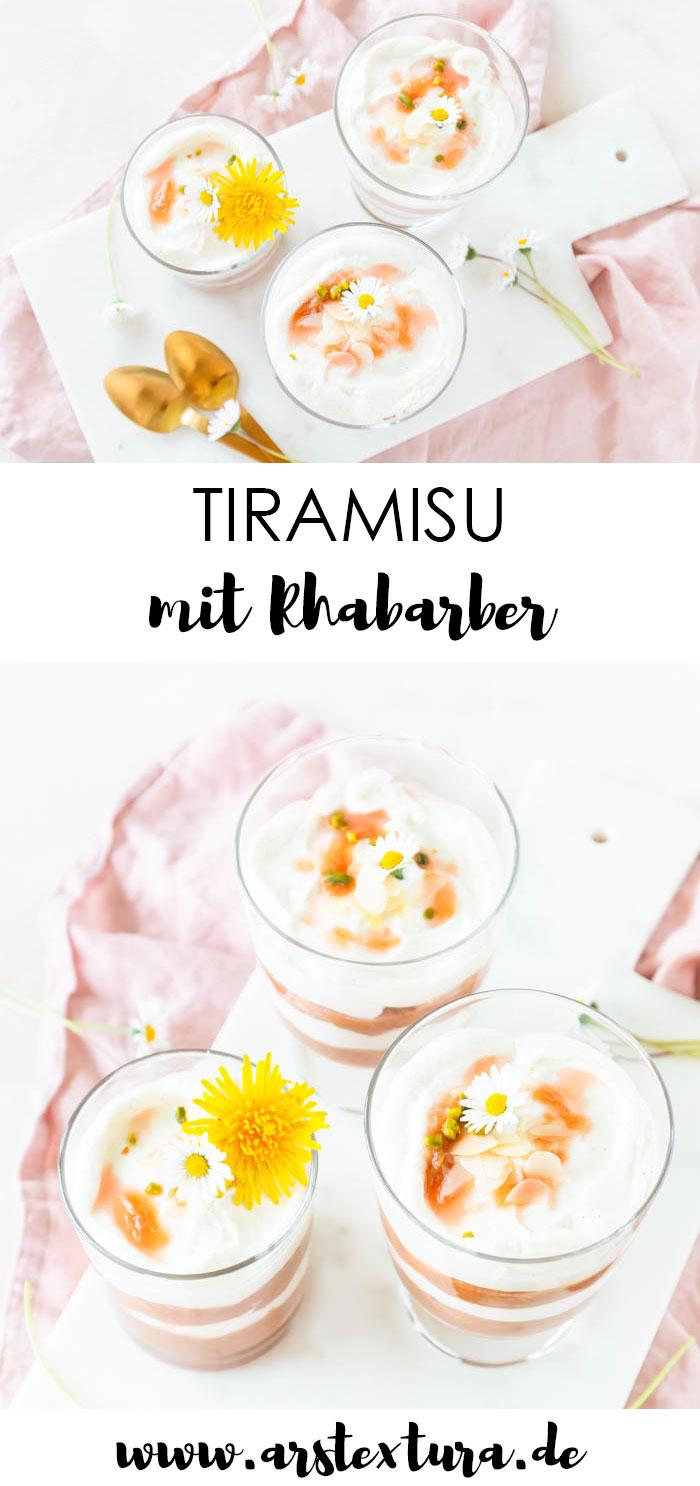 Rezept Tiramisu mit Rhabarber - auch für Kinder und Schwangere geeignet
