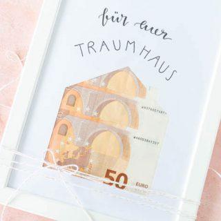 Geldgeschenk zur Hochzeit - Haus bauen Geld verschenken