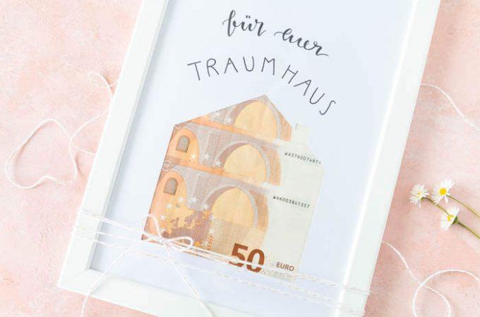 Einfaches Haus-Geldgeschenk zur Hochzeit
