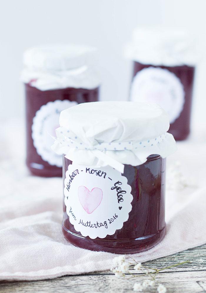 Himbeere Rosen Marmelade zum Muttertag selber machen - DIY Geschenk