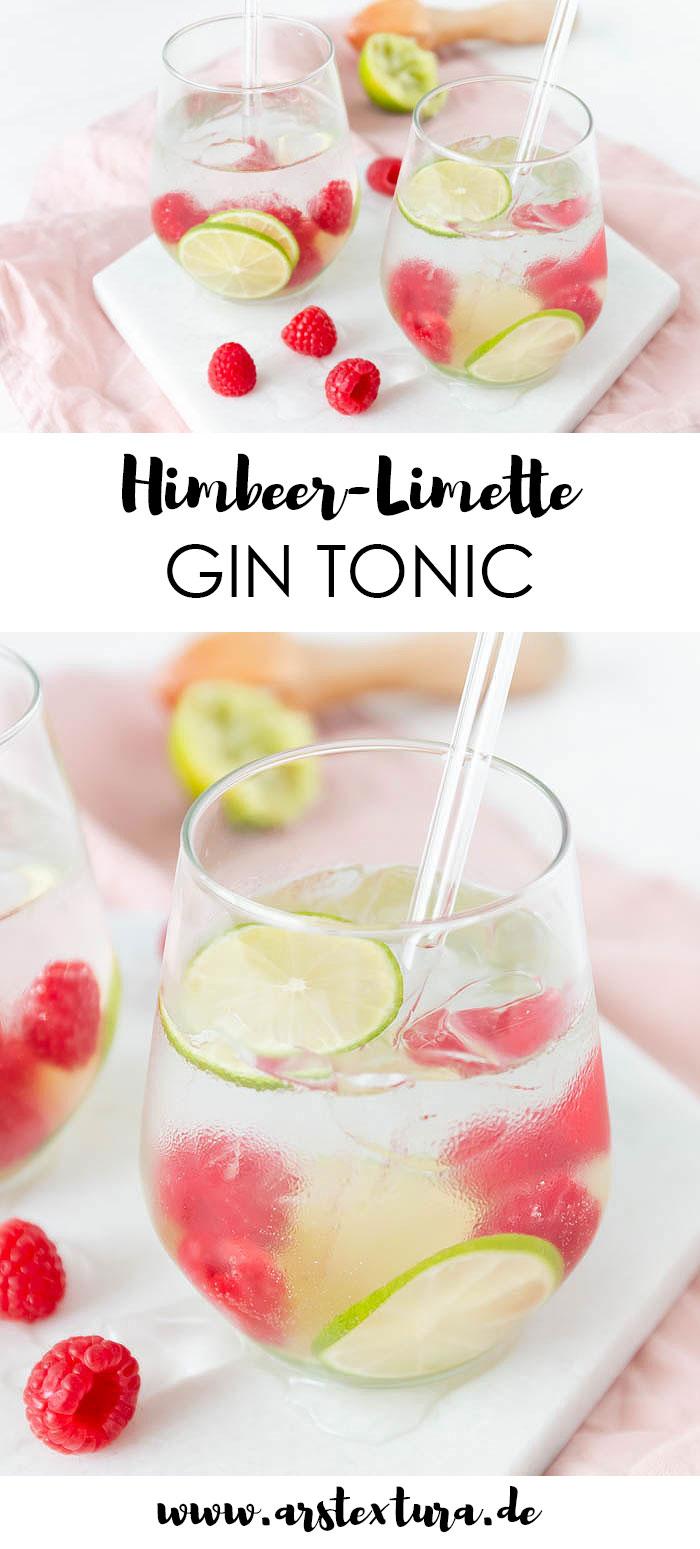 Rezept Himbeer-Limette Gin Tonic - ein perfekter Drink für den Sommer