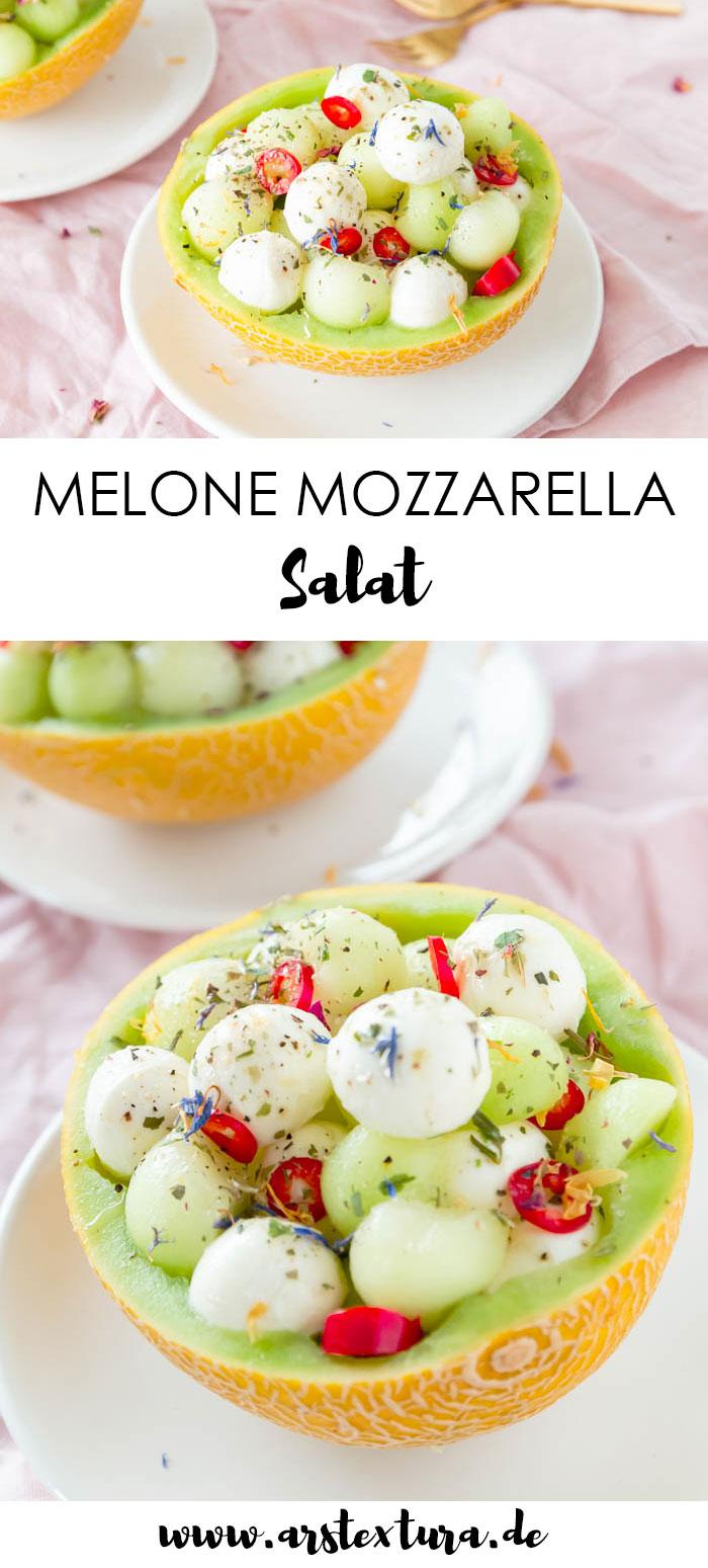 Rezept Melone Mozzarella Salat