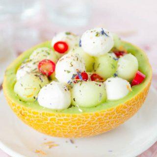Melone Mozzarella Salat Rezept