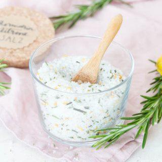 Rosmarin Zitronen Salz - DIY Geschenk
