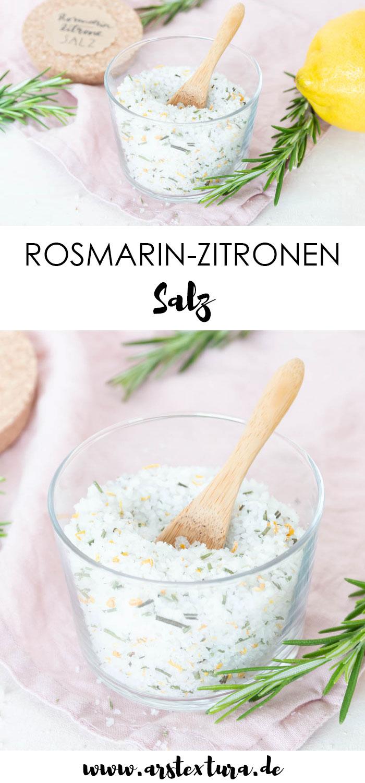Rosmarin Zitronen Salz selber machen - DIY Geschenk Kräutersalz