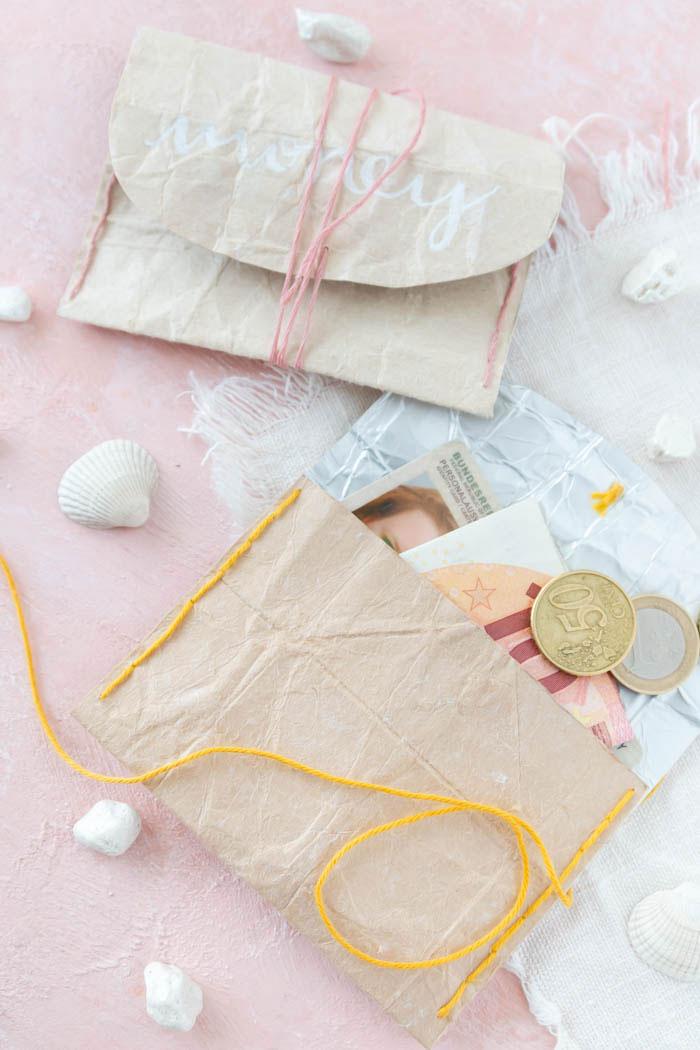 Portemonnaie aus Milchtüten basteln