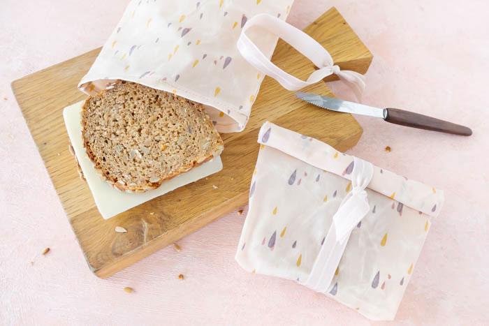 Nachhaltige Geschenk Idee: Brotbeutel-aus-Bienenwachstuch