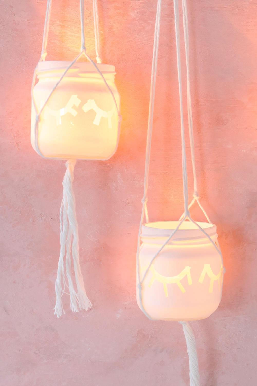 Geist Windlicht basteln zu Halloween