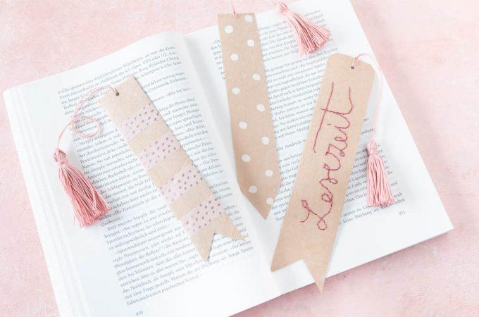 Lesezeichen aus Michtüten basteln | 5 Minuten DIY