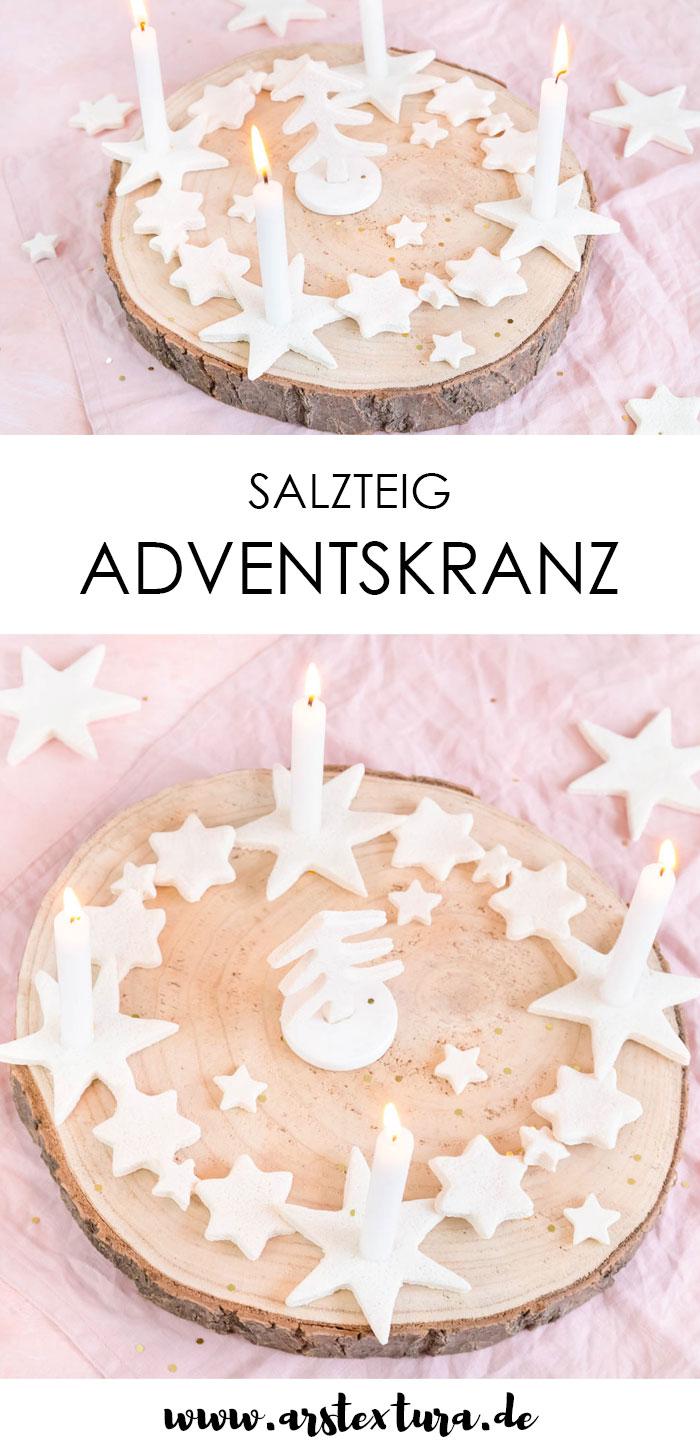Anleitung Adventskranz aus Salzteig