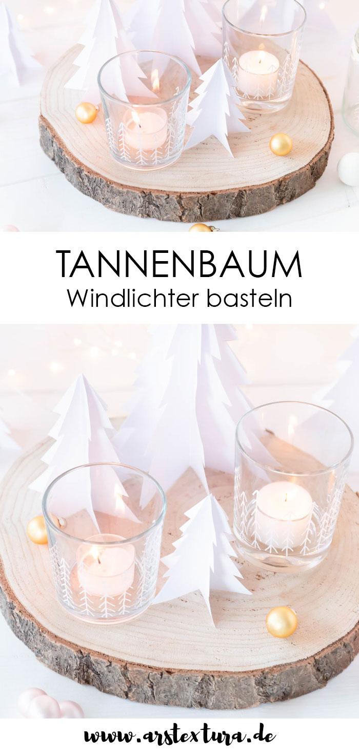 Winterwald Windlichter basteln