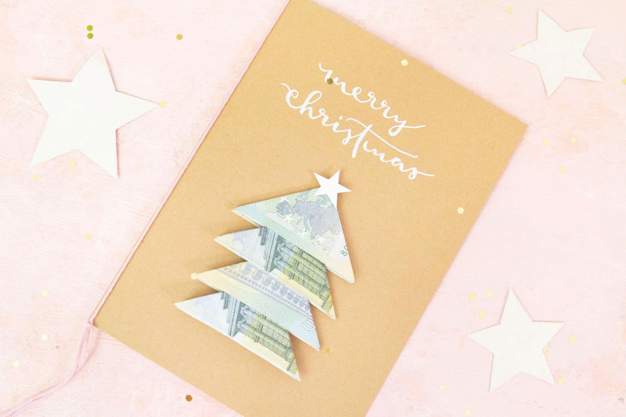 Geldgeschenk basteln Weihnachten