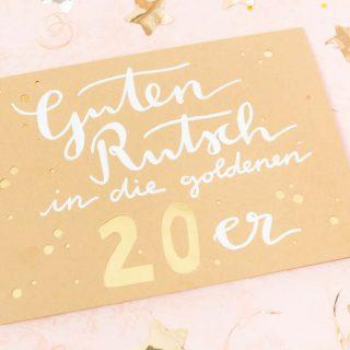 Neujahrskarten mit Gold-Effekt basteln