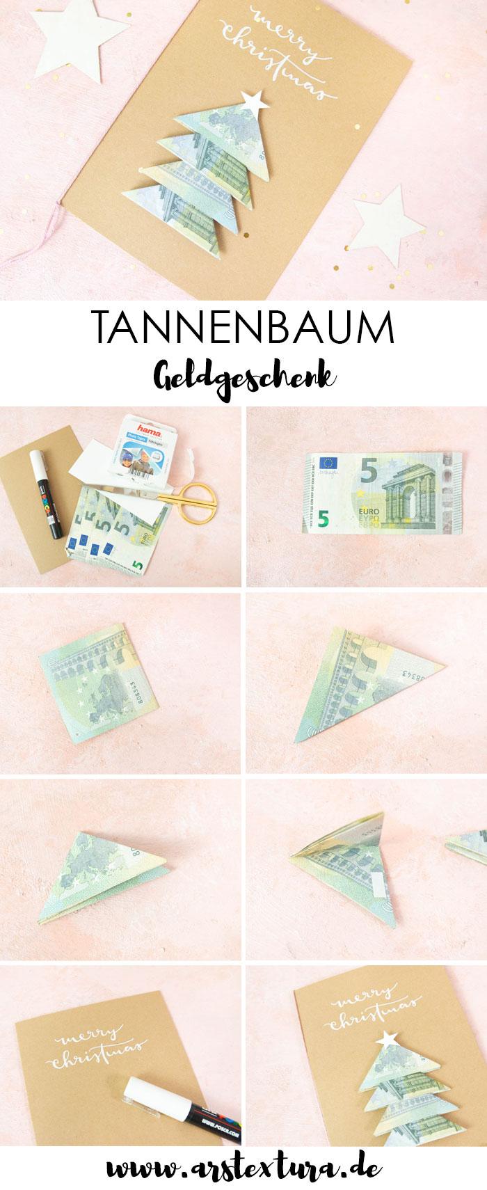 Anleitung Geldgeschenk basteln Weihnachten
