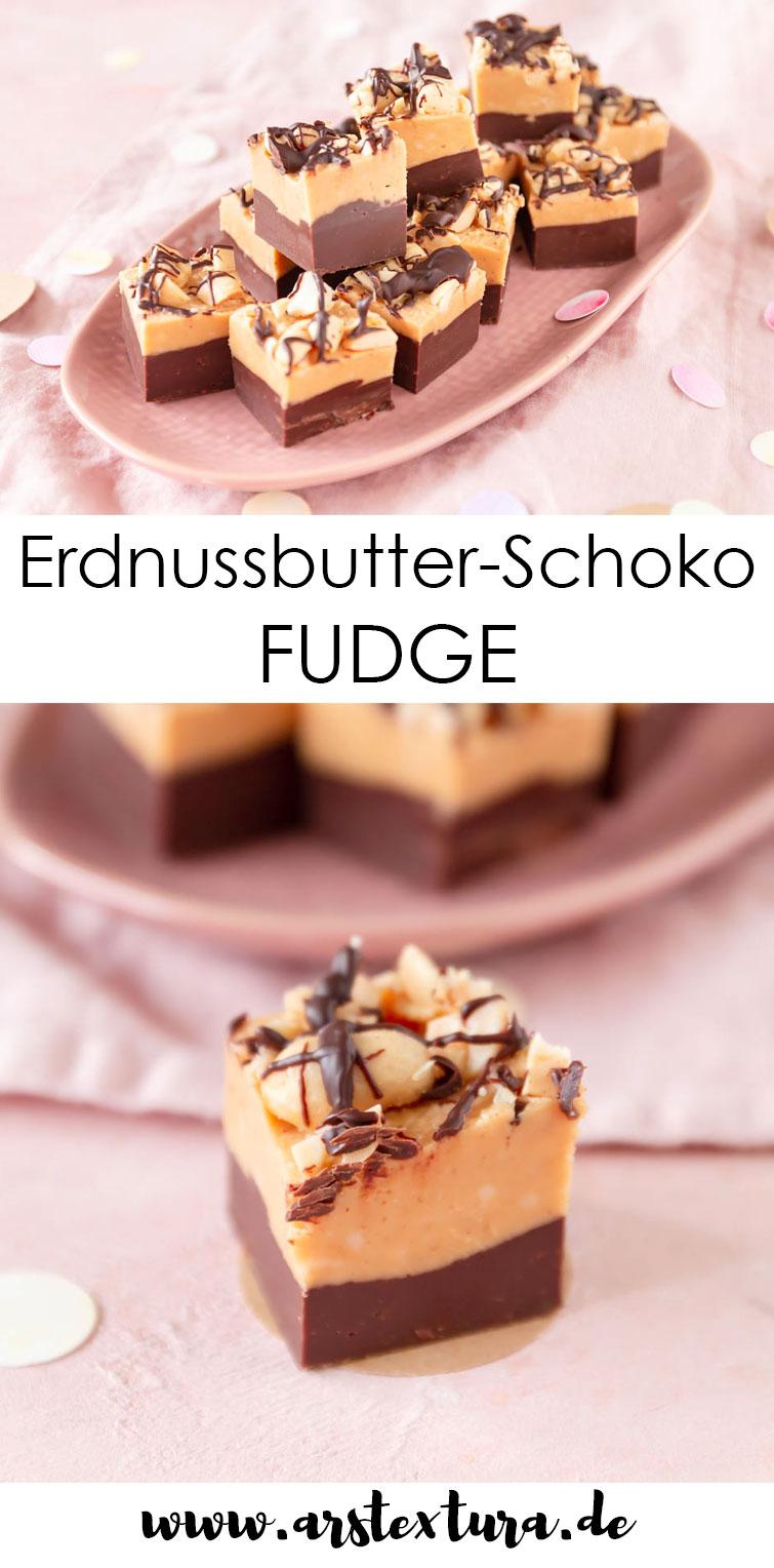 Erdnussbutter-Schoko Fudge