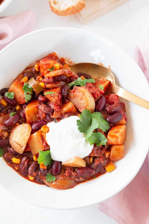Vegetarisches Kartoffel Chili Rezept