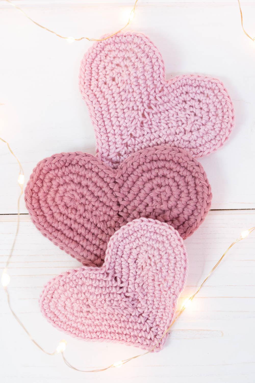 Anleitung Herz häkeln Valentinstag