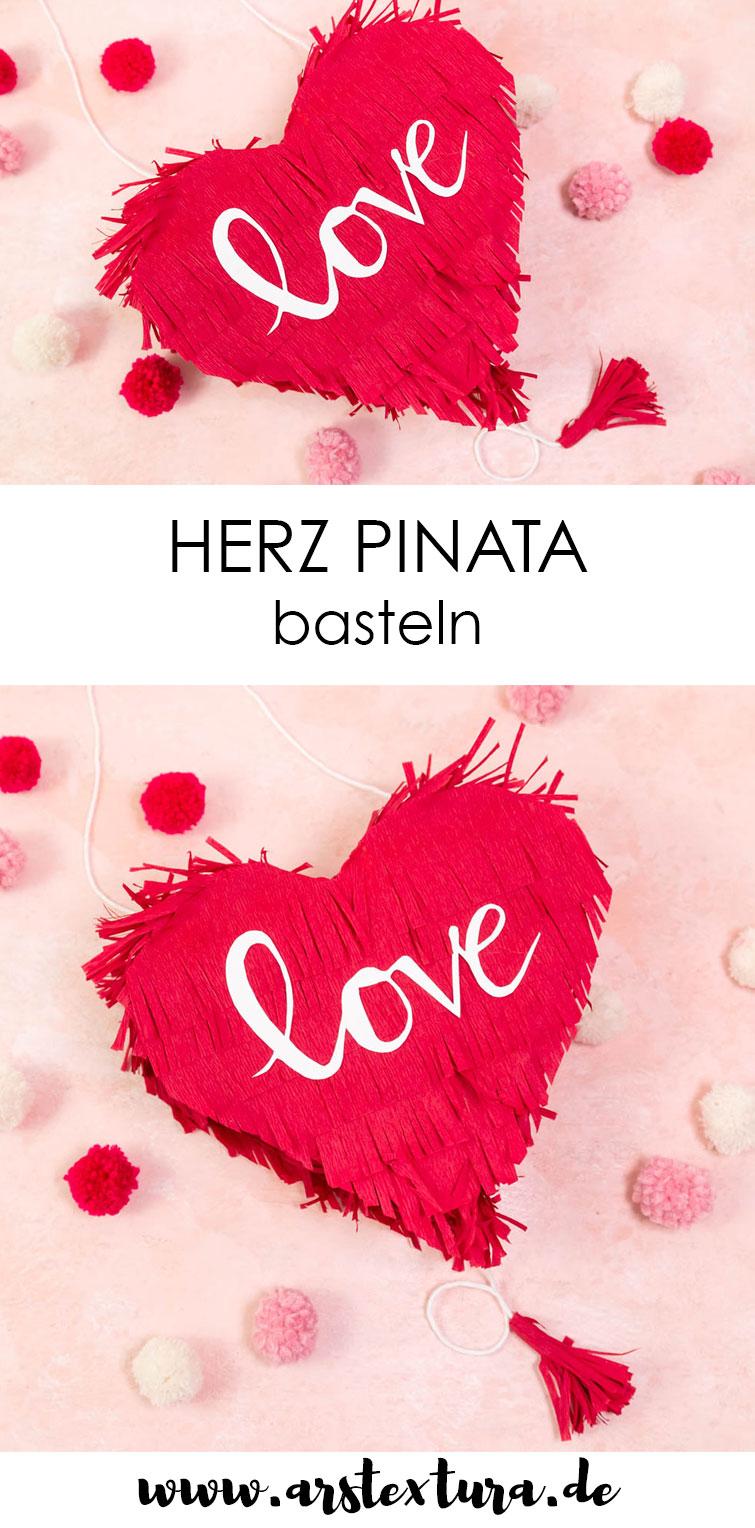 Herz Pinata basteln Anleitung