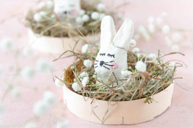 Ostern basteln Hasen aus Salzteig