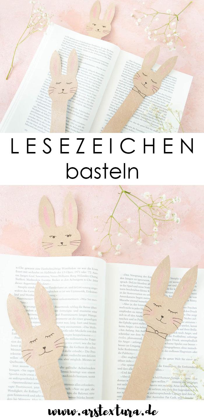 Hasen Lesezeichen aus Milchtüten basteln